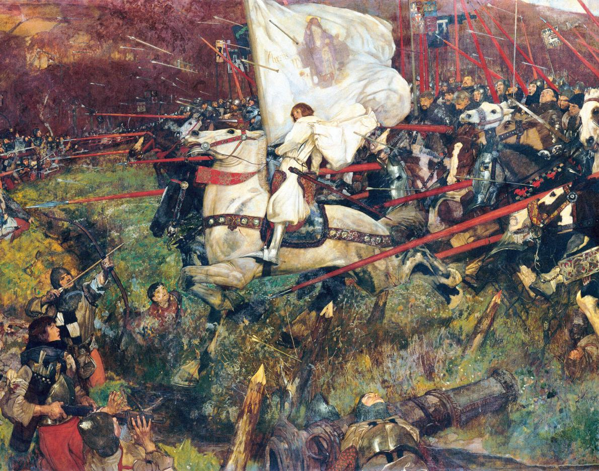Leading the Charge, Painting by Frank Craig, 1907. Musée d'Orsay, Paris